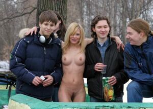 young nudist girls in public
