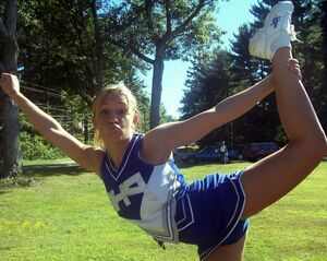 cheerleader upskirt no panties