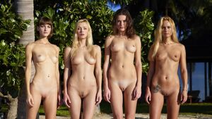 young nudist models